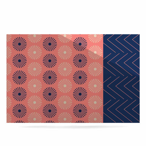 "afe images ""AFE Geometric Abstract"" Blue Coral Abstract Pattern Digital Illustration Luxe Rectangle Panel"