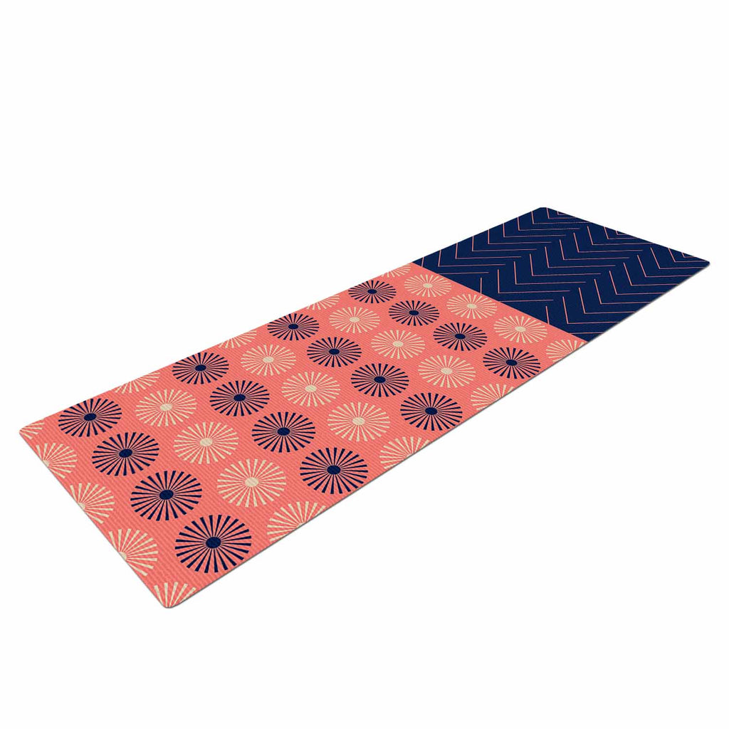 "afe images ""AFE Geometric Abstract"" Blue Coral Abstract Pattern Digital Illustration Yoga Mat"