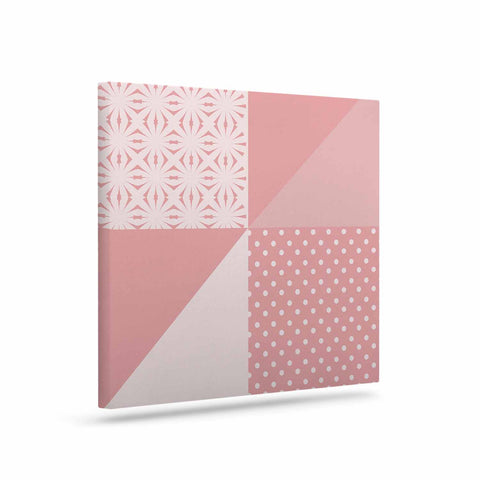 "afe images ""AFE Abstract2"" Coral Pink Abstract Pattern Digital Illustration Art Canvas"
