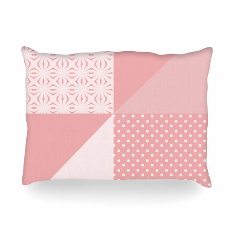 "afe images ""AFE Abstract2"" Coral Pink Abstract Pattern Digital Illustration Oblong Pillow"