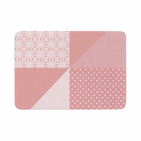 "afe images ""AFE Abstract2"" Coral Pink Abstract Pattern Digital Illustration Memory Foam Bath Mat"