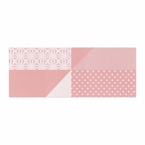 "afe images ""AFE Abstract2"" Coral Pink Abstract Pattern Digital Illustration Bed Runner"