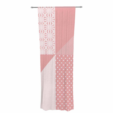 "afe images ""AFE Abstract2"" Coral Pink Abstract Pattern Digital Illustration Decorative Sheer Curtain"