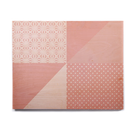 "afe images ""AFE Abstract2"" Coral Pink Abstract Pattern Digital Illustration Birchwood Wall Art"