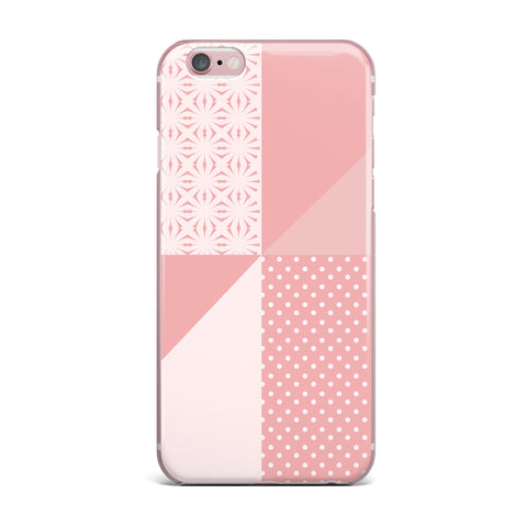 "afe images ""AFE Abstract2"" Coral Pink Abstract Pattern Digital Illustration iPhone Case"