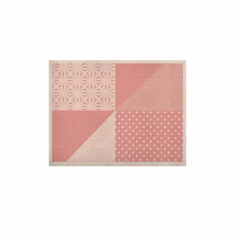 "afe images ""AFE Abstract2"" Coral Pink Abstract Pattern Digital Illustration KESS Naturals Canvas (Frame not Included)"