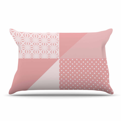 "afe images ""AFE Abstract2"" Coral Pink Abstract Pattern Digital Illustration Pillow Sham"