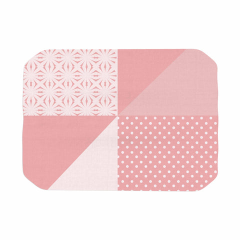 "afe images ""AFE Abstract2"" Coral Pink Abstract Pattern Digital Illustration Place Mat"
