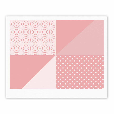 "afe images ""AFE Abstract2"" Coral Pink Abstract Pattern Digital Illustration Fine Art Gallery Print"