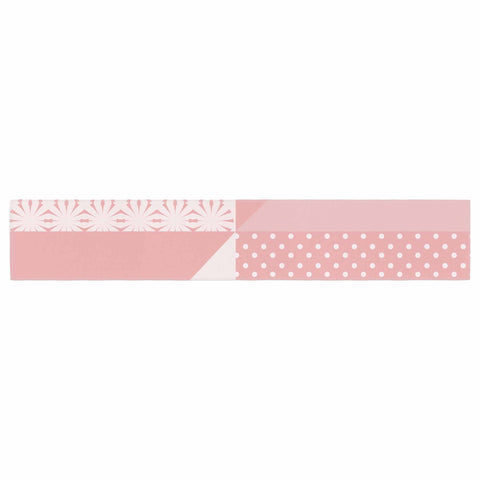 "afe images ""AFE Abstract2"" Coral Pink Abstract Pattern Digital Illustration Table Runner"
