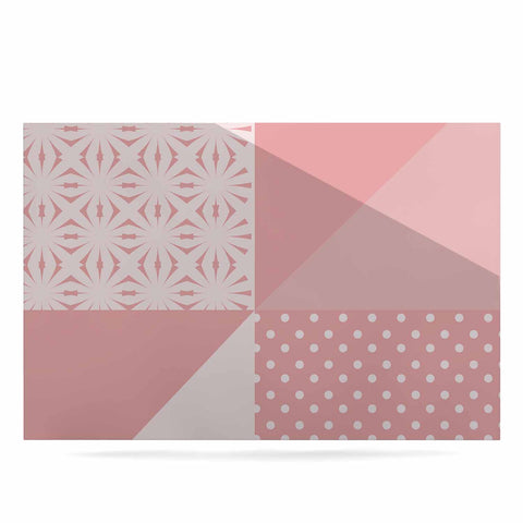 "afe images ""AFE Abstract2"" Coral Pink Abstract Pattern Digital Illustration Luxe Rectangle Panel"