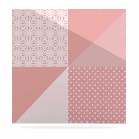 "afe images ""AFE Abstract2"" Coral Pink Abstract Pattern Digital Illustration Luxe Square Panel"