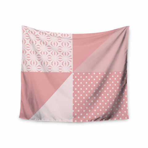 "afe images ""AFE Abstract2"" Coral Pink Abstract Pattern Digital Illustration Wall Tapestry"