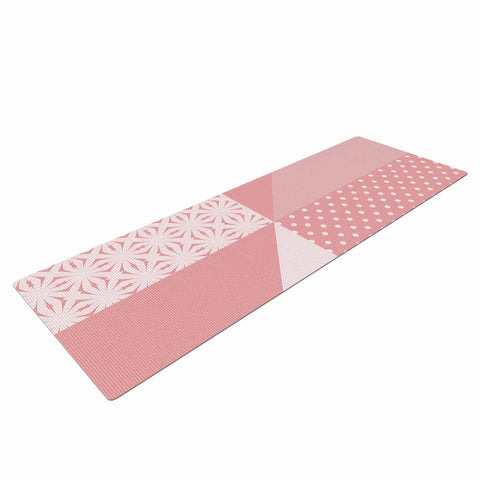"afe images ""AFE Abstract2"" Coral Pink Abstract Pattern Digital Illustration Yoga Mat"