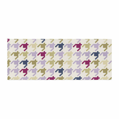 "afe images ""AFE Houndstooth Pattern"" Multicolor Houndstooth Pattern Digital Illustration Bed Runner"