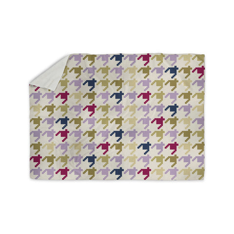 "afe images ""AFE Houndstooth Pattern"" Multicolor Houndstooth Pattern Digital Illustration Sherpa Blanket"