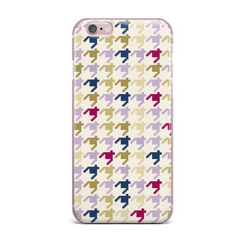 "afe images ""AFE Houndstooth Pattern"" Multicolor Houndstooth Pattern Digital Illustration iPhone Case"
