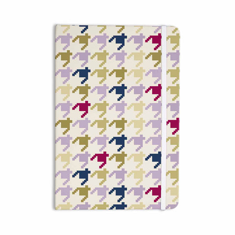 "afe images ""AFE Houndstooth Pattern"" Multicolor Houndstooth Pattern Digital Illustration Everything Notebook"