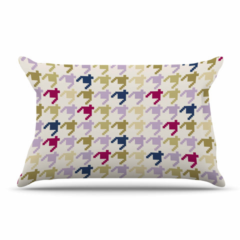 "afe images ""AFE Houndstooth Pattern"" Multicolor Houndstooth Pattern Digital Illustration Pillow Sham"