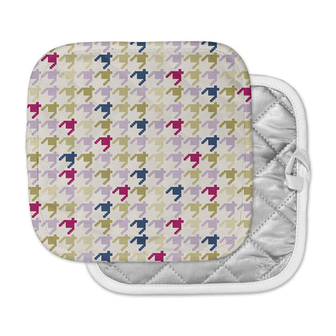 "afe images ""AFE Houndstooth Pattern"" Multicolor Houndstooth Pattern Digital Illustration Pot Holder"
