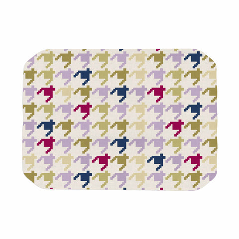"afe images ""AFE Houndstooth Pattern"" Multicolor Houndstooth Pattern Digital Illustration Place Mat"