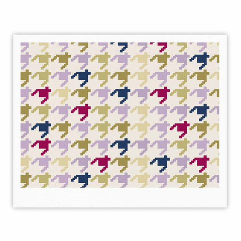 "afe images ""AFE Houndstooth Pattern"" Multicolor Houndstooth Pattern Digital Illustration Fine Art Gallery Print"