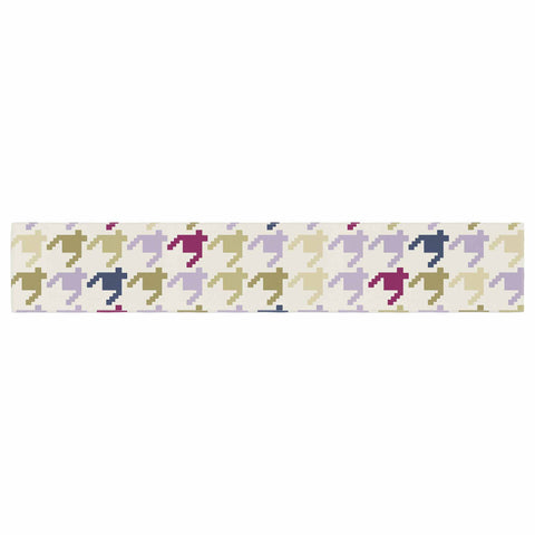 "afe images ""AFE Houndstooth Pattern"" Multicolor Houndstooth Pattern Digital Illustration Table Runner"