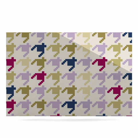 "afe images ""AFE Houndstooth Pattern"" Multicolor Houndstooth Pattern Digital Illustration Luxe Rectangle Panel"