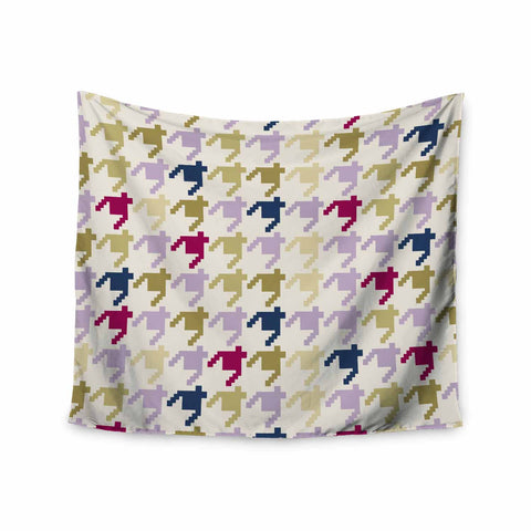 "afe images ""AFE Houndstooth Pattern"" Multicolor Houndstooth Pattern Digital Illustration Wall Tapestry"
