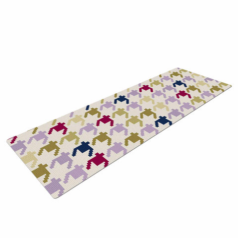 "afe images ""AFE Houndstooth Pattern"" Multicolor Houndstooth Pattern Digital Illustration Yoga Mat"