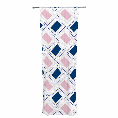 "afe images ""AFE Pink And Blue Pattern"" Blue Pink Geometric Pattern Digital Illustration Decorative Sheer Curtain"