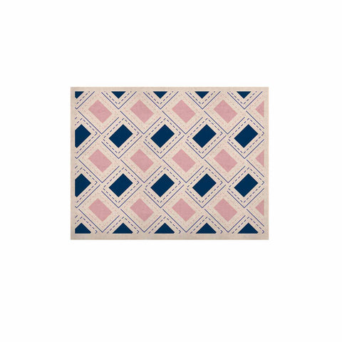 "afe images ""AFE Pink And Blue Pattern"" Blue Pink Geometric Pattern Digital Illustration KESS Naturals Canvas (Frame not Included)"