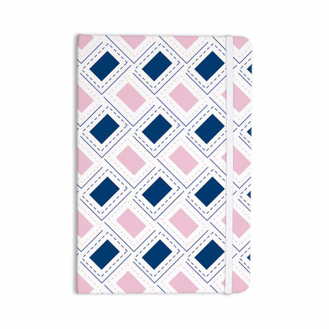 "afe images ""AFE Pink And Blue Pattern"" Blue Pink Geometric Pattern Digital Illustration Everything Notebook"