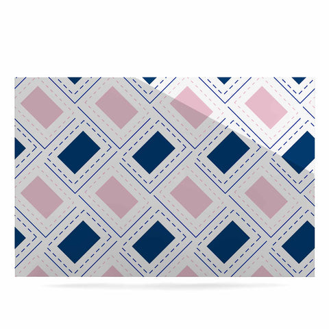 "afe images ""AFE Pink And Blue Pattern"" Blue Pink Geometric Pattern Digital Illustration Luxe Rectangle Panel"