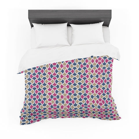 "afe images ""AFE Ogee Pattern"" Blue Red Pattern Abstract Digital Illustration Featherweight Duvet Cover"
