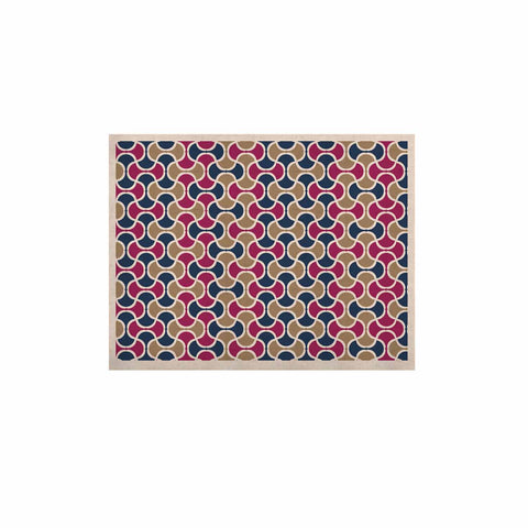 "afe images ""AFE Ogee Pattern"" Blue Red Pattern Abstract Digital Illustration KESS Naturals Canvas (Frame not Included)"