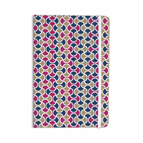 "afe images ""AFE Ogee Pattern"" Blue Red Pattern Abstract Digital Illustration Everything Notebook"