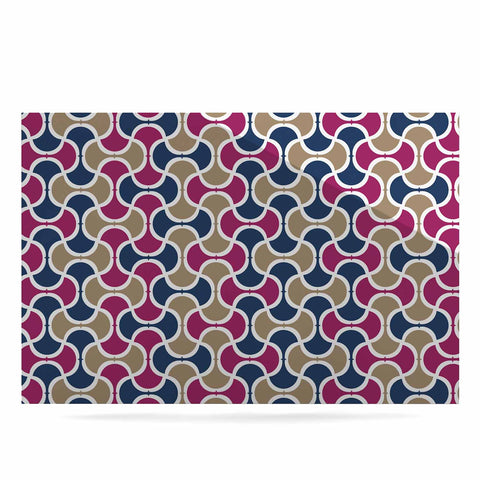"afe images ""AFE Ogee Pattern"" Blue Red Pattern Abstract Digital Illustration Luxe Rectangle Panel"