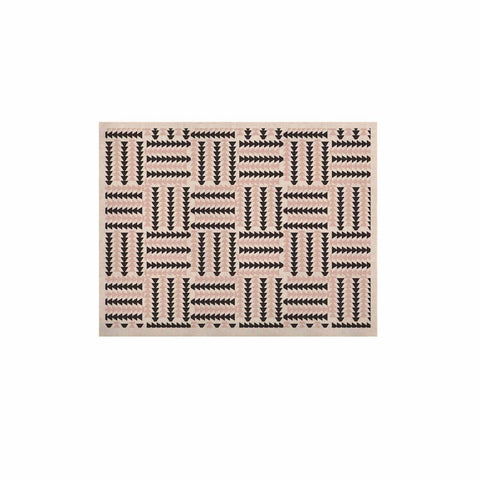 "afe images ""AFE Basket Weave2"" Black Pink Abstract Pattern Digital Illustration KESS Naturals Canvas (Frame not Included)"
