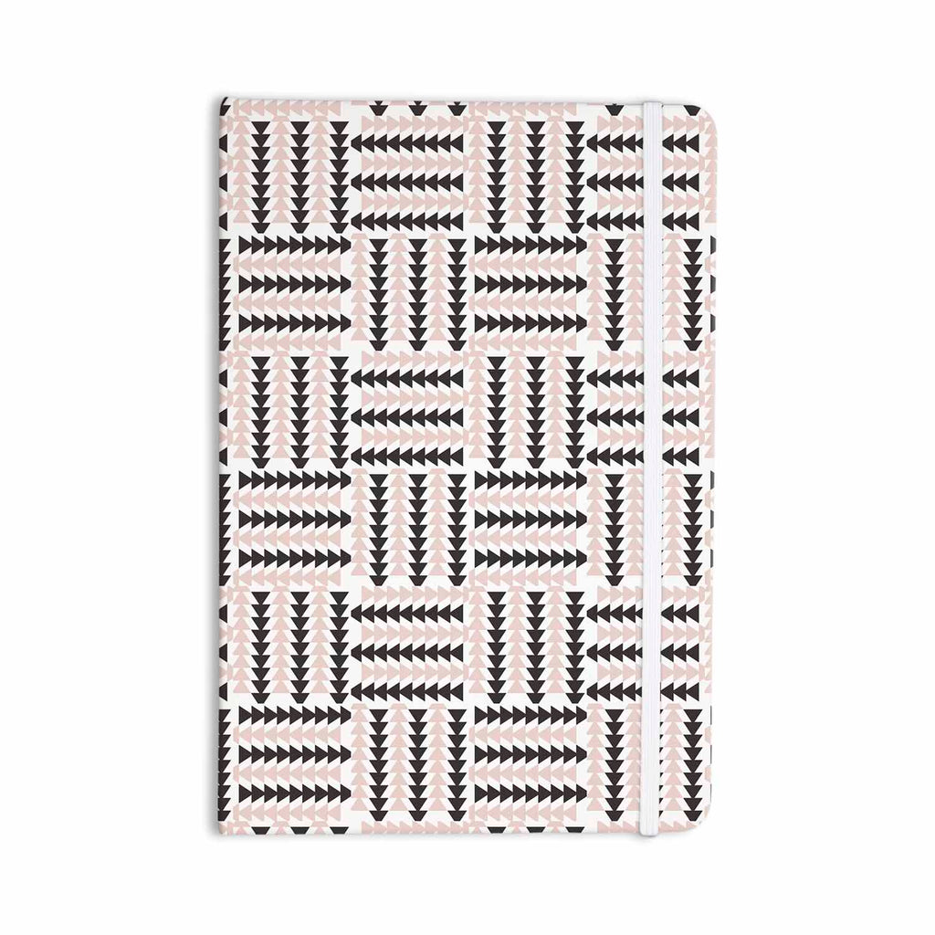 "afe images ""AFE Basket Weave2"" Black Pink Abstract Pattern Digital Illustration Everything Notebook"