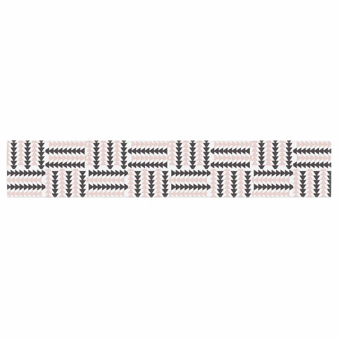 "afe images ""AFE Basket Weave2"" Black Pink Abstract Pattern Digital Illustration Table Runner"