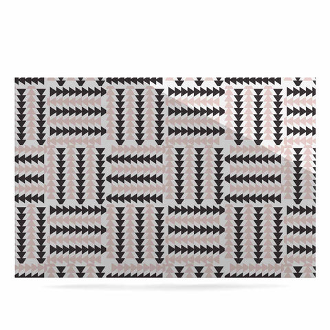 "afe images ""AFE Basket Weave2"" Black Pink Abstract Pattern Digital Illustration Luxe Rectangle Panel"
