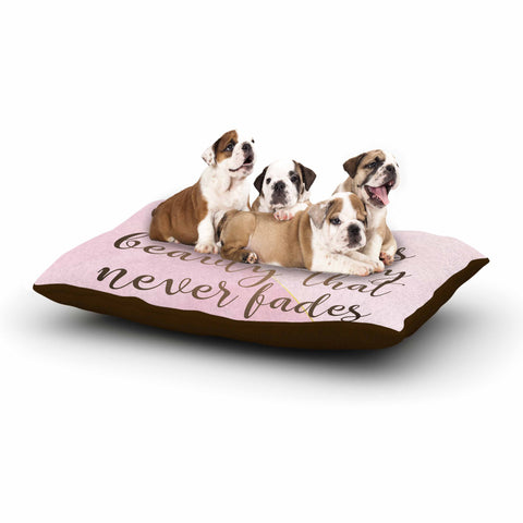 "afe images ""AFE Kindness"" Pink Gold Typography Modern Digital Illustration Dog Bed"