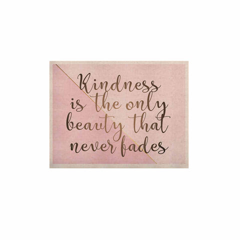 "afe images ""AFE Kindness"" Pink Gold Typography Modern Digital Illustration KESS Naturals Canvas (Frame not Included)"