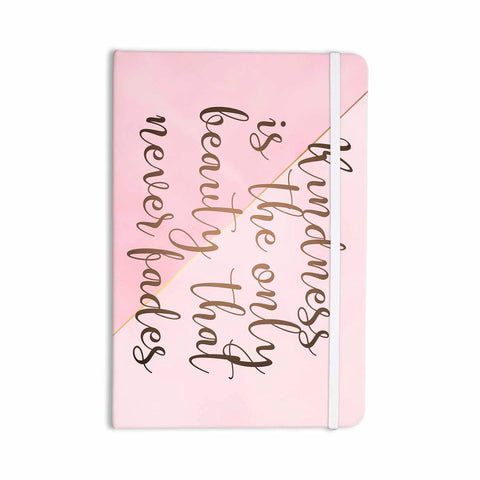 "afe images ""AFE Kindness"" Pink Gold Typography Modern Digital Illustration Everything Notebook"