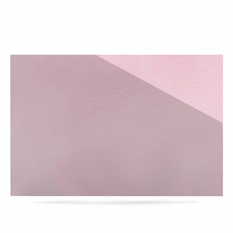 "afe images ""AFE Kindness"" Pink Gold Typography Modern Digital Illustration Luxe Rectangle Panel"