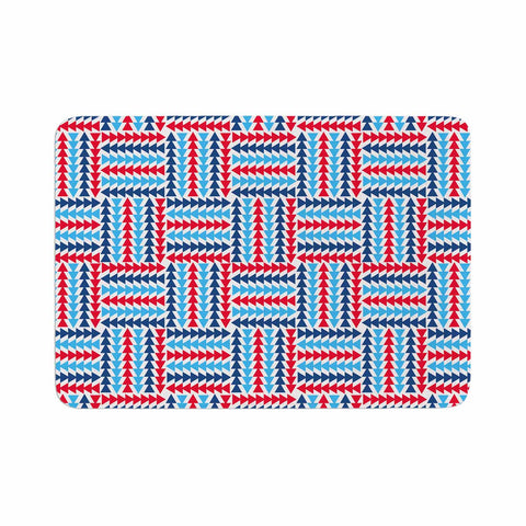 "afe images ""AFE Abstract Basket Weave"" Red Blue Abstract Pattern Digital Illustration Memory Foam Bath Mat"