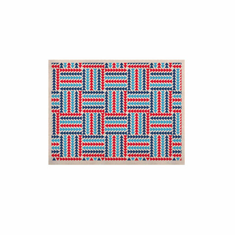 "afe images ""AFE Abstract Basket Weave"" Red Blue Abstract Pattern Digital Illustration KESS Naturals Canvas (Frame not Included)"