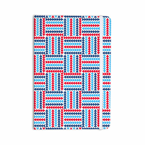 "afe images ""AFE Abstract Basket Weave"" Red Blue Abstract Pattern Digital Illustration Everything Notebook"