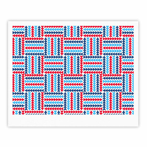 "afe images ""AFE Abstract Basket Weave"" Red Blue Abstract Pattern Digital Illustration Fine Art Gallery Print"